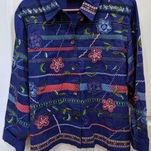Really nice blue floral designer jacket/blazer